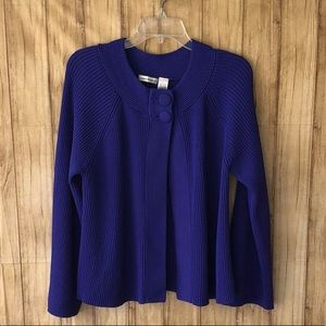 Laura Ashley Royal Blue Open Front Cardigan